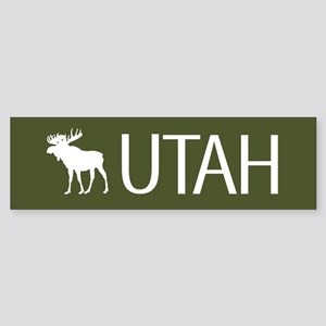 Utah: Moose (Mountain Green) Sticker (Bumper)