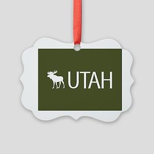 Utah: Moose (Mountain Green) Picture Ornament