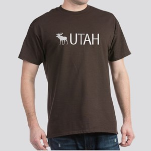 Utah: Moose (White) Dark T-Shirt