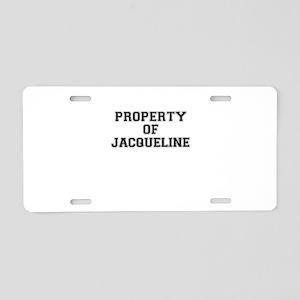 Property of JACQUELINE Aluminum License Plate