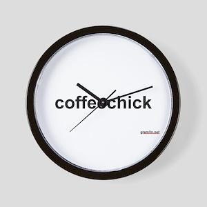 BTR: coffeechick Wall Clock