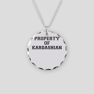 Property of KARDASHIAN Necklace Circle Charm
