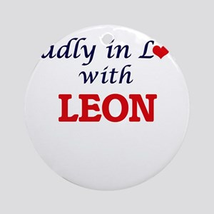 Madly in love with Leon Round Ornament