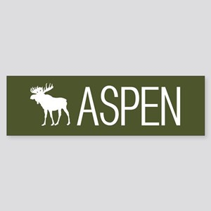 Colorado: Aspen Moose (Mountain G Sticker (Bumper)