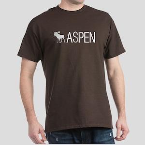 Colorado: Aspen Moose (White) Dark T-Shirt