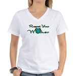 Respect Your Mother Earth Women's V-Neck T-Shirt