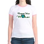 Respect Your Mother Earth Jr. Ringer T-Shirt