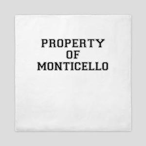 Property of MONTICELLO Queen Duvet