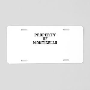 Property of MONTICELLO Aluminum License Plate