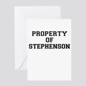 Property of STEPHENSON Greeting Cards