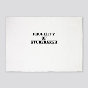 Property of STUDEBAKER 5'x7'Area Rug