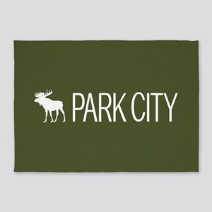 Utah: Park City Moose (Mountain Gre 5'x7'Area Rug