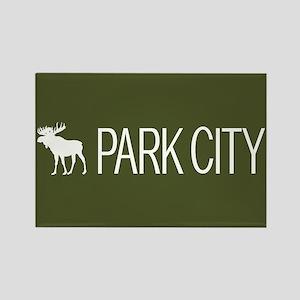 Utah: Park City Moose (Mountain G Rectangle Magnet