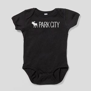 Utah: Park City Moose (White) Baby Bodysuit