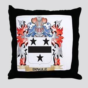 Dingle Coat of Arms - Family Crest Throw Pillow