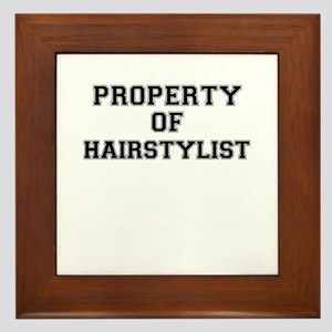 Property of HAIRSTYLIST Framed Tile