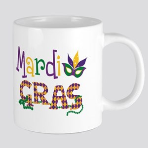 Argyle Mardi Gras 20 oz Ceramic Mega Mug