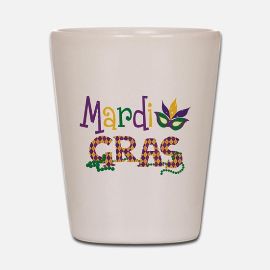 Argyle Mardi Gras Shot Glass