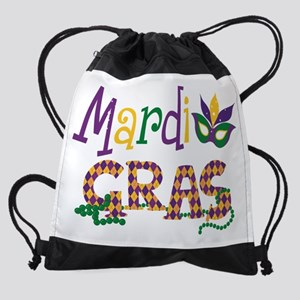 Argyle Mardi Gras Drawstring Bag