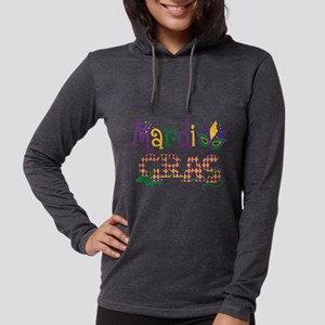 Argyle Mardi Gras Womens Hooded Shirt