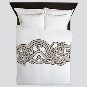 Urnes Snake Extended Stomach Retro Queen Duvet
