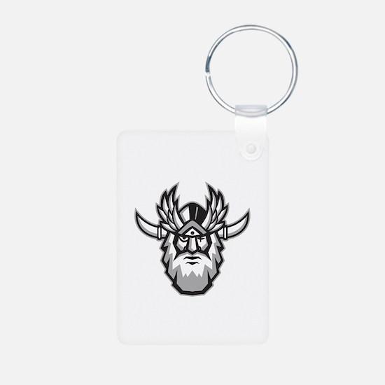 Norse God Odin Head Retro Keychains