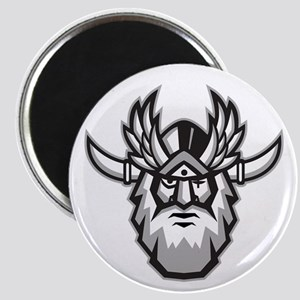 Norse God Odin Head Retro Magnets