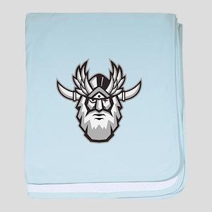 Norse God Odin Head Retro baby blanket