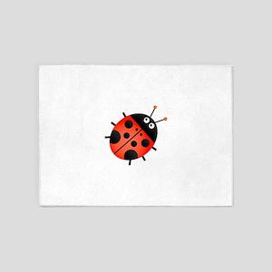 Animated Ladybug 5'x7'Area Rug