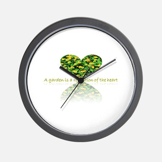 Reflection of the heart Wall Clock