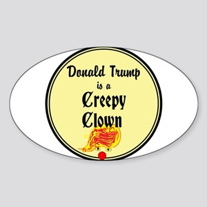 Trump is a creepy clown, Sticker