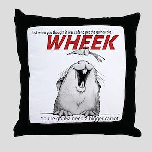Guinea Pig Jaws Throw Pillow