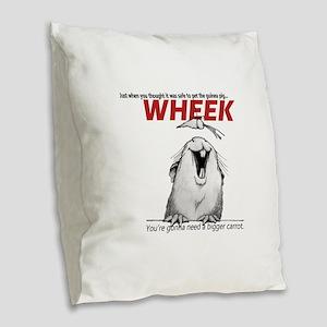 Guinea Pig Jaws Burlap Throw Pillow