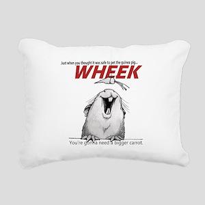 Guinea Pig Jaws Rectangular Canvas Pillow