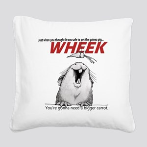 Guinea Pig Jaws Square Canvas Pillow
