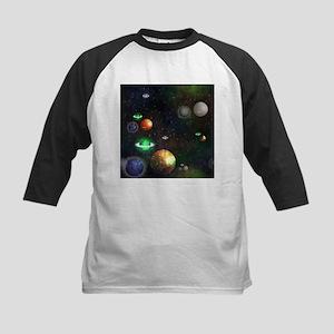 Neon Solar System Baseball Jersey