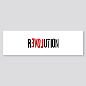 Revolution Love Bumper Sticker
