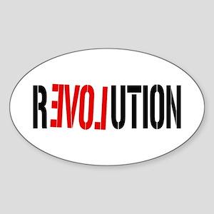 Revolution Love Oval Sticker
