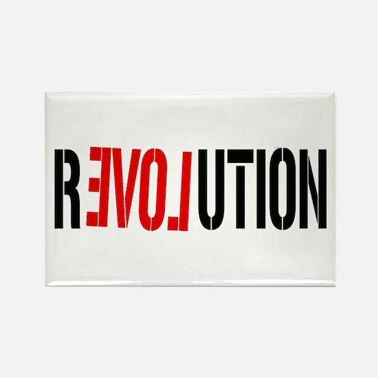 Revolution Love Rectangle Magnet