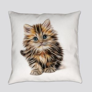 Abstract Neon Lighting Outlined Ki Everyday Pillow