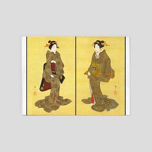 Geishas by Utagawa 5'x7'Area Rug