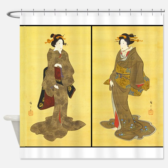 Geishas by Utagawa Shower Curtain