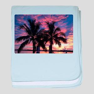Sunset baby blanket