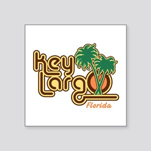 "Key Largo Florida Square Sticker 3"" x 3"""