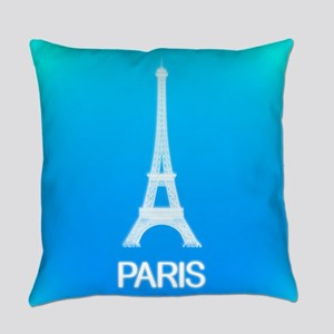Paris: Eiffel Tower (Deep Sky Blue) Everyday Pillo