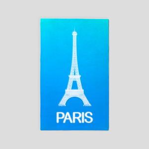 Paris: Eiffel Tower (Deep Sky Blue) Area Rug