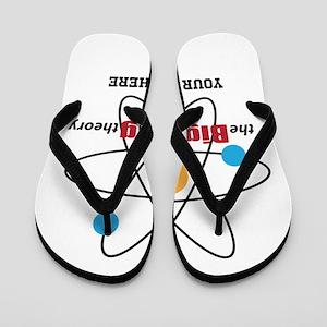Big Bang Theory Personalized Flip Flops