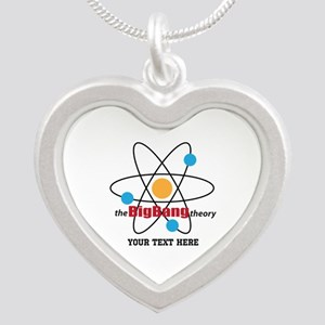 Big Bang Theory Personalized Silver Heart Necklace