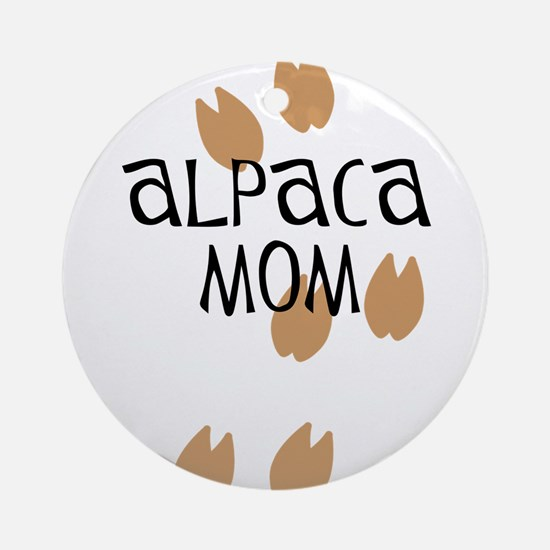 Alpaca Mom Ornament (Round)