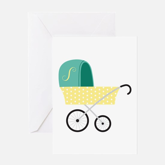 Baby Carriage Greeting Cards